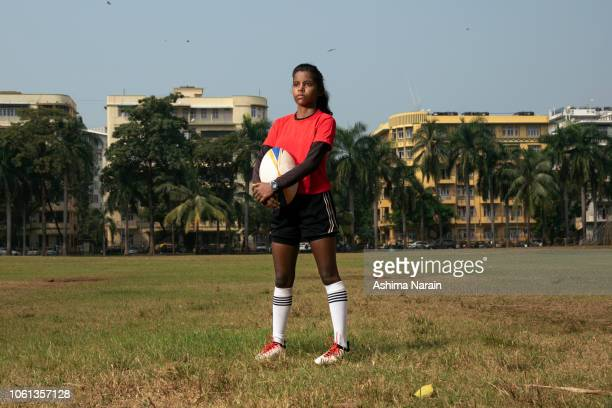 Portrait of a female Indian rugby player
