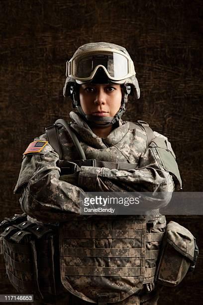 ポートレートのミリタリーミナミコメツキ雌 - 将校 ストックフォトと画像