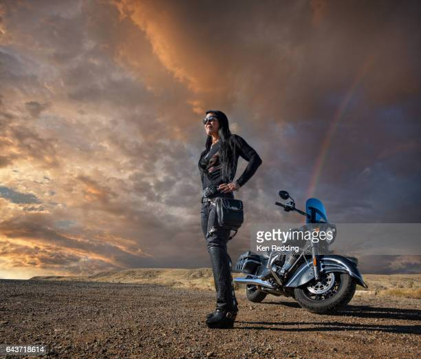 Portrait of a Female Motorcycle Rider