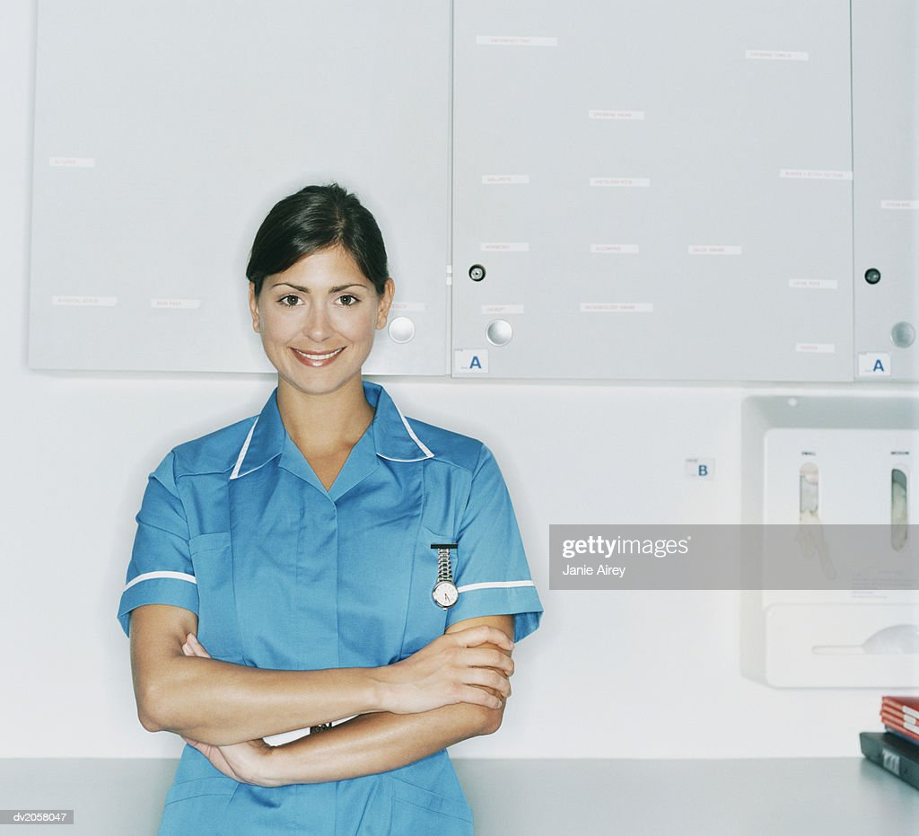 Portrait of a Female Nurse : Stock Photo