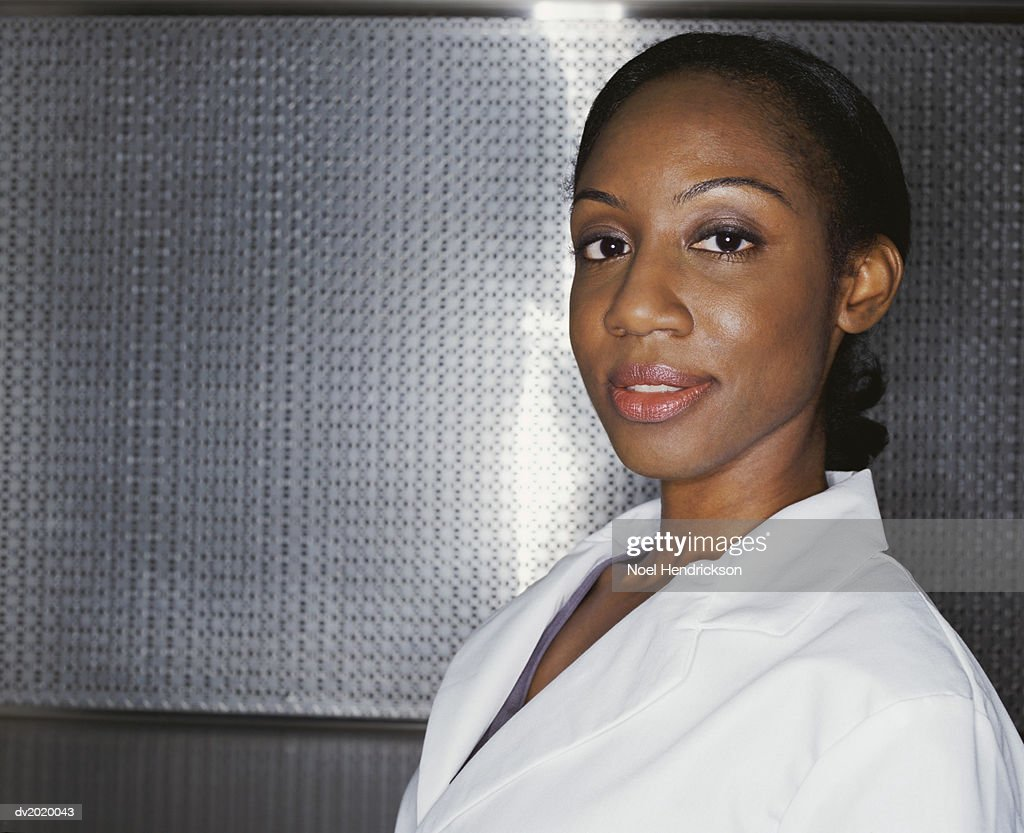 Portrait of a Female Scientist : Stock Photo