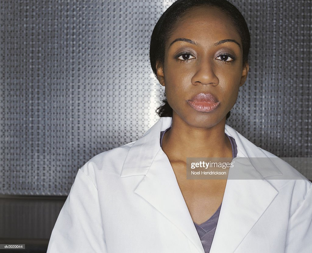 Portrait of a Female Scientist : Stock Photo