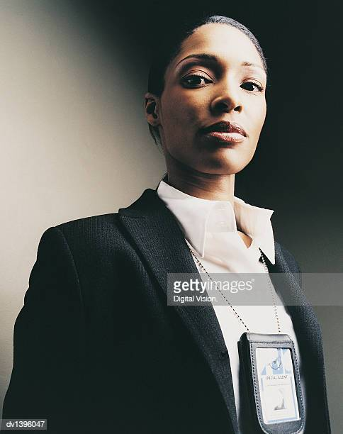 portrait of a female special agent - fbi id stock pictures, royalty-free photos & images