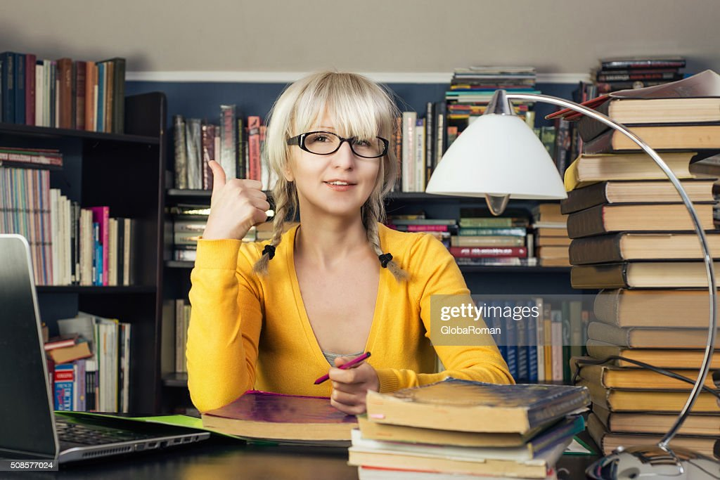 Portrait Of A Female Student : Stock Photo