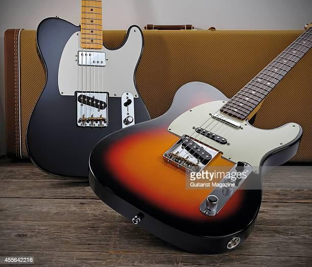 Portrait of a Fender Vintage Hot Rod 60s Telecaster and Fender Vintage Hot Rod 50s Telecaster taken on November 6 2013