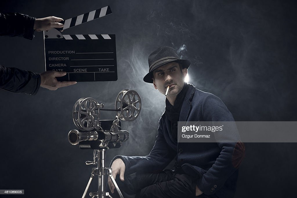 Portrait of a filmmaker : Stock Photo