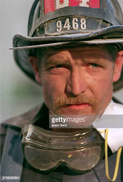 Portrait of a firefighter at the scene of the attack on the World Trade Center Photo by Jason Florio/Corbis Sygma
