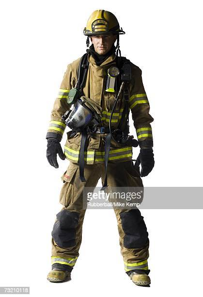 portrait of a firefighter - rescue worker stock pictures, royalty-free photos & images