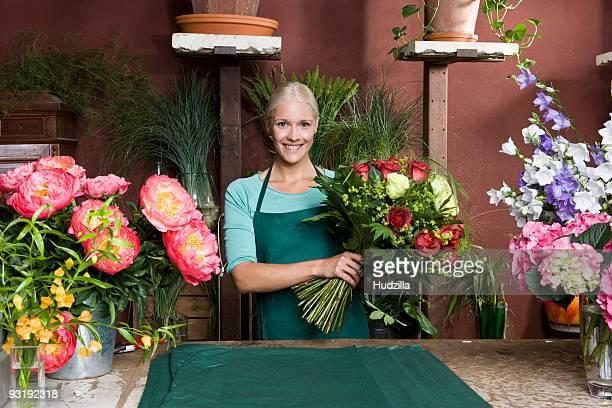 Portrait of a florist