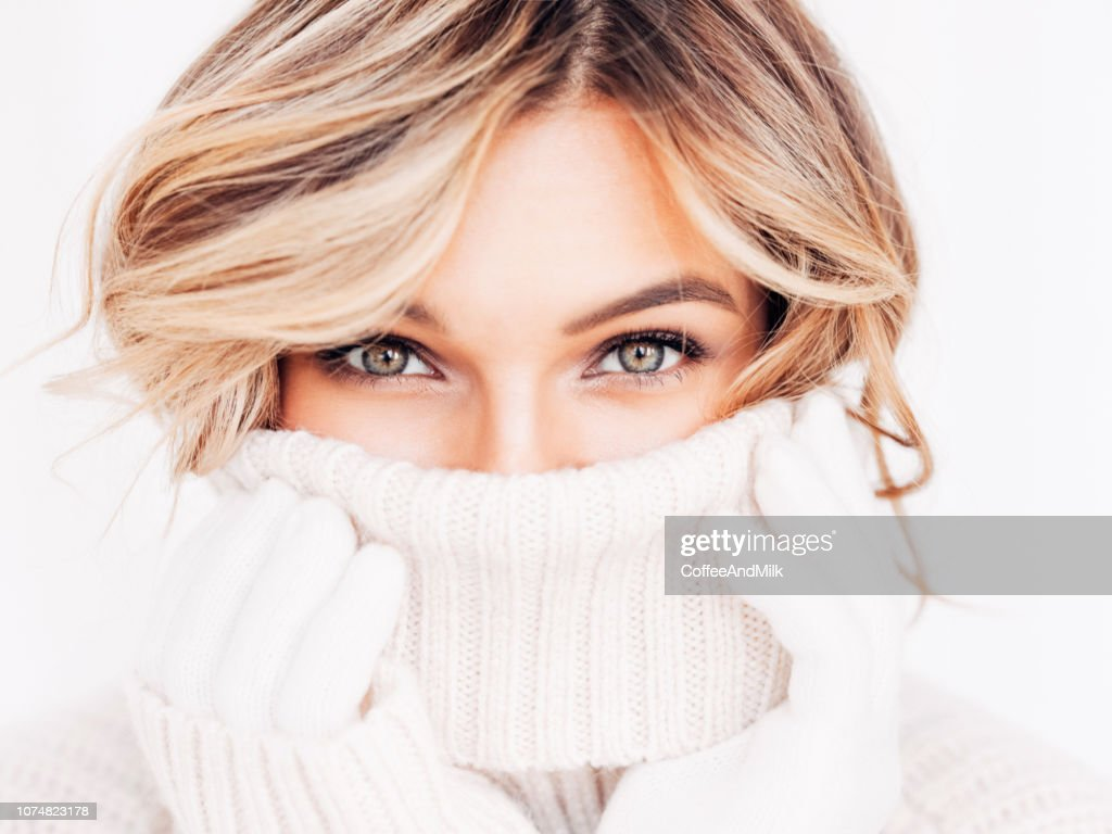 Portrait of a fresh and lovely woman : Stock Photo