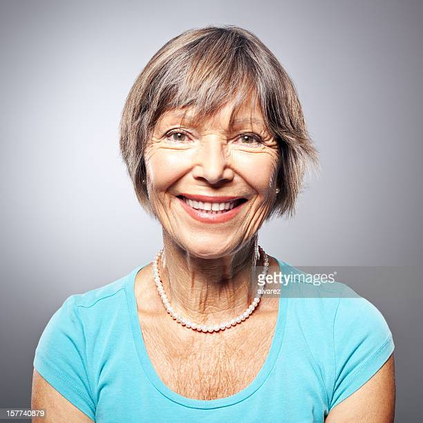 Portrait of a friendly smiling senior woman