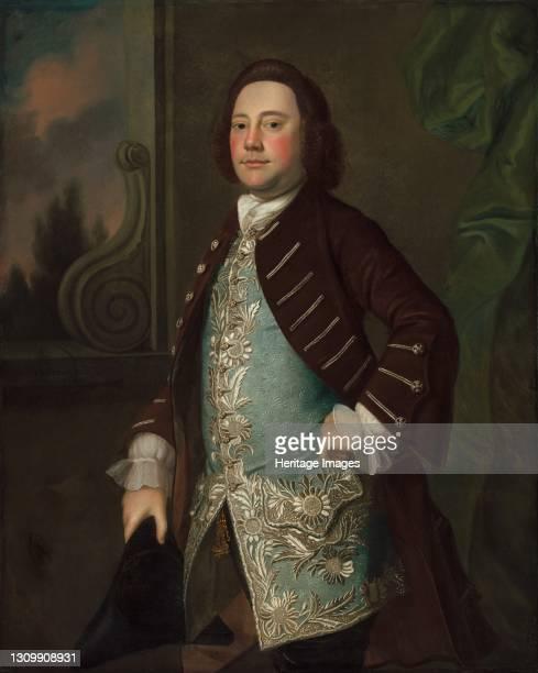 Portrait of a Gentleman, circa 1760. Artist Joseph Blackburn. .