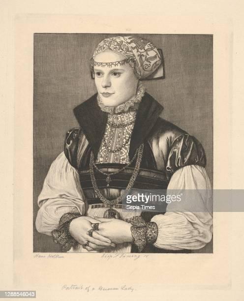 Portrait of a German Lady, Etching, Sheet: 13 13/16 × 10 1/16 in. , Prints, Léopold Flameng .