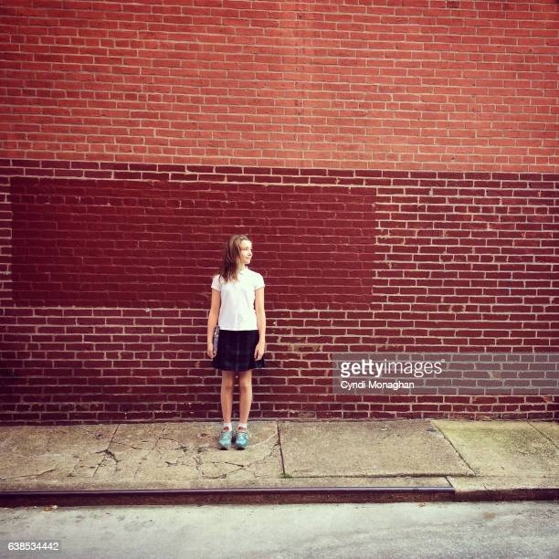Portrait of a Girl in an Alley