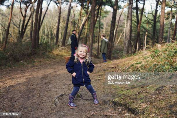 portrait of a girl in the woods - rural scene stock pictures, royalty-free photos & images