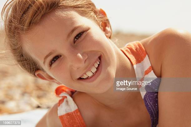 portrait of a girl outdoors - saltdean stock pictures, royalty-free photos & images