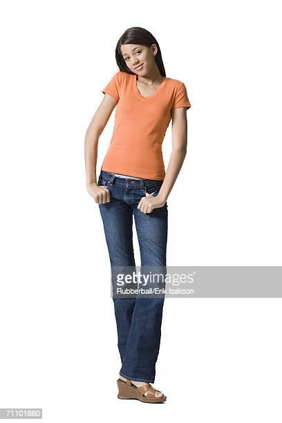 Portrait of a girl posing