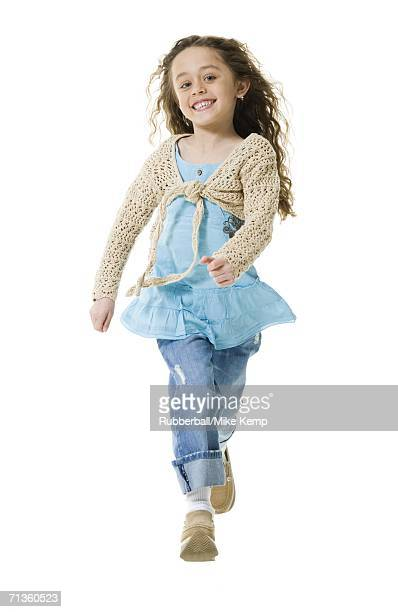 Portrait of a girl running