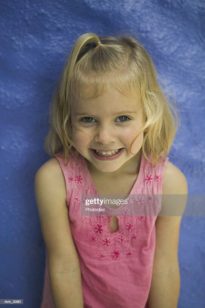 Portrait of a girl smiling : Foto de stock
