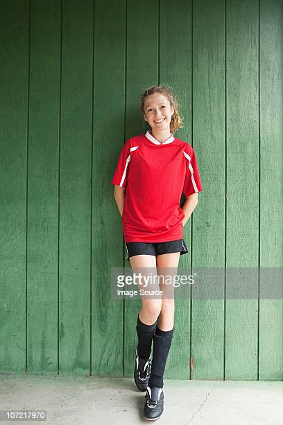 Portrait of a girl soccer player