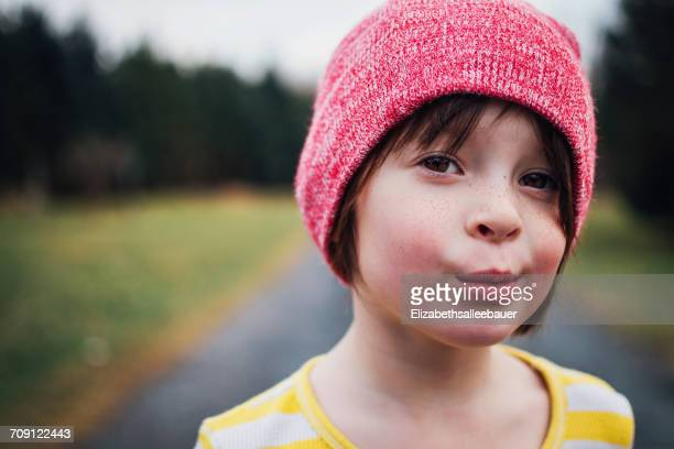 Portrait of a girl wearing a beanie