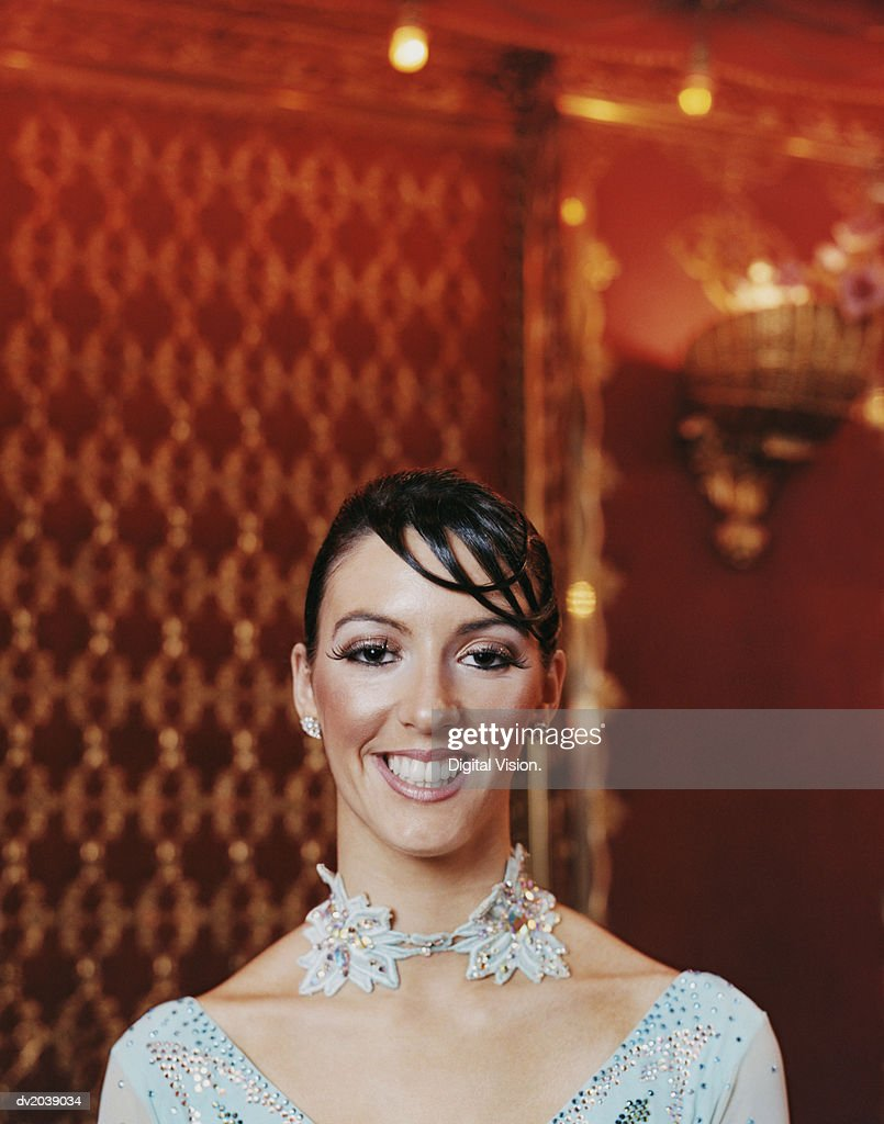Portrait of a Glamorous Ballroom Dancer : Stock Photo