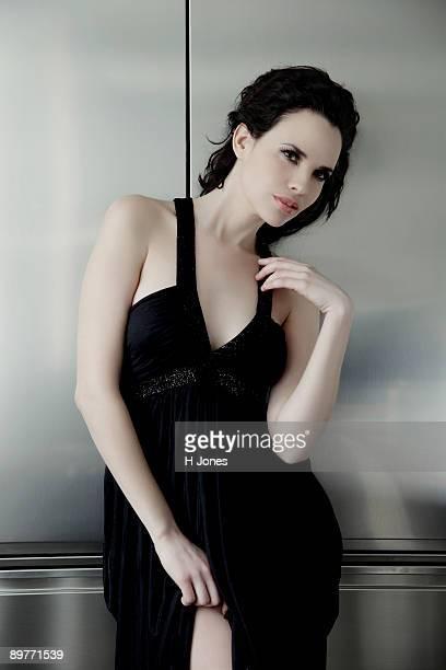 Portrait of a glamorous woman.