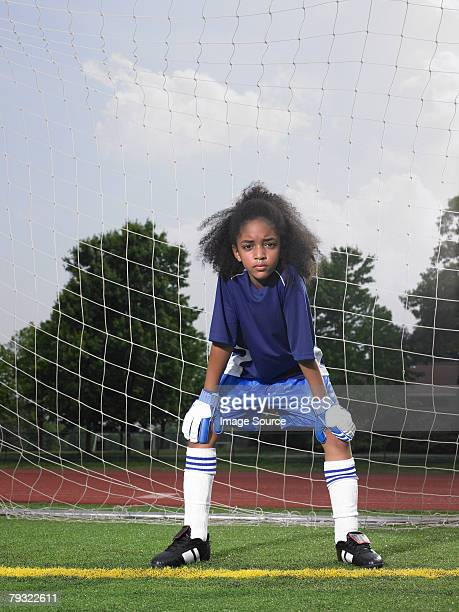 portrait of a goalkeeper - goalkeeper stock pictures, royalty-free photos & images
