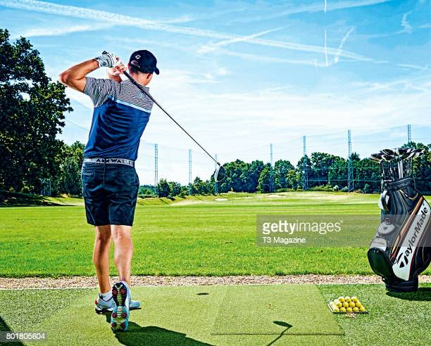 Portrait of a golfer being tested at the TaylorMade Performance Lab in Wentworth on August 15 2016