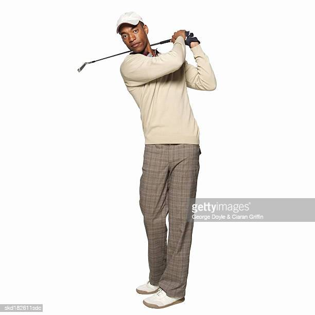 portrait of a golfer - golfer stock pictures, royalty-free photos & images