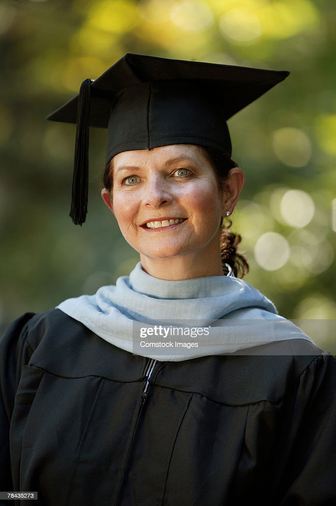 Portrait of a graduate : Stockfoto