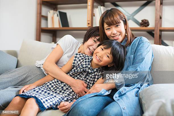Portrait of a grandmother, mother and daughter