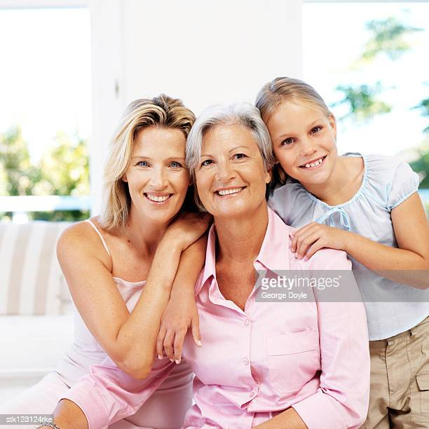 portrait of a grandmother; mother and daughter