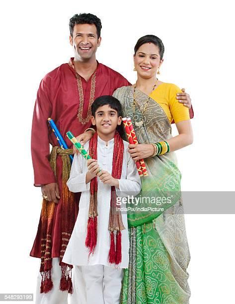Portrait of a Gujarati family