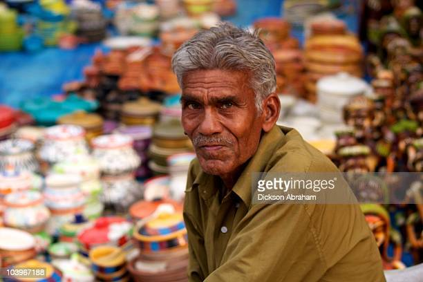 Portrait of a Handicrafts seller at Shilparam Hyderabad
