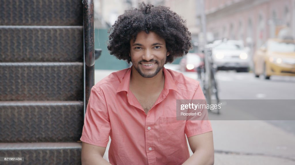 Portrait of a Handsome African American Man : Stock Photo