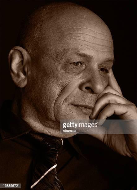 Portrait of a Handsome bald-headed Senior Man