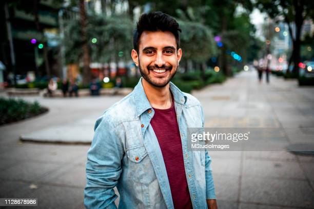 portrait of a handsome indian man. - 30 39 years stock pictures, royalty-free photos & images