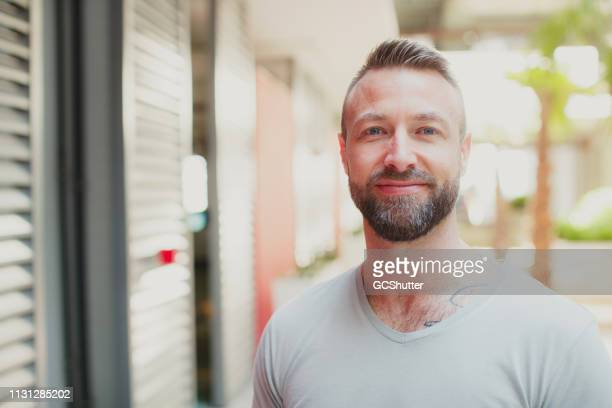 portrait of a handsome man - photography stock pictures, royalty-free photos & images