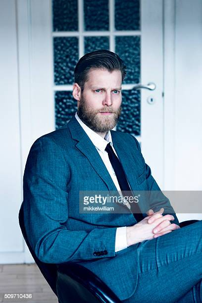 Portrait of a handsome scandinavian businessman with suit and tie