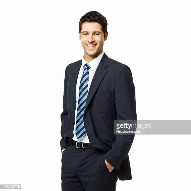 portrait of a handsome young businessman - isolated - waist up stock pictures, royalty-free photos & images