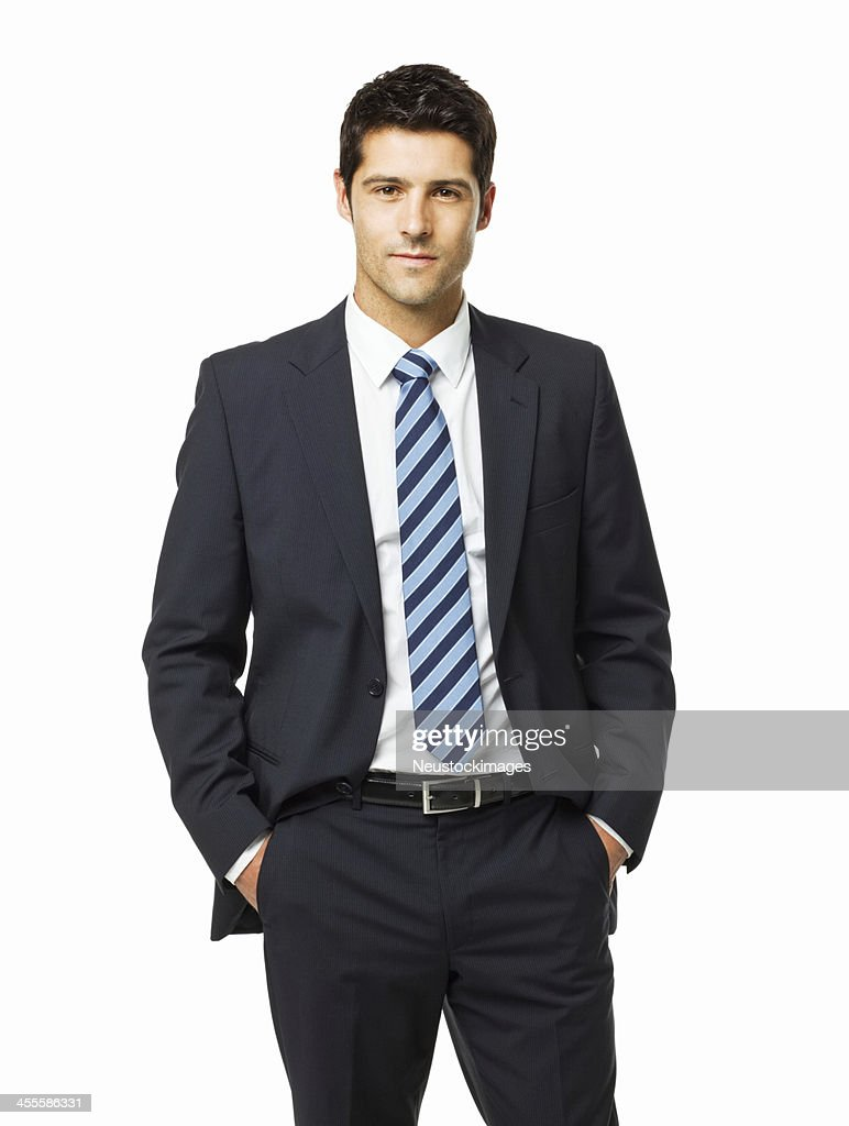 Portrait Of A Handsome Young Businessman Isolated High-Res ...