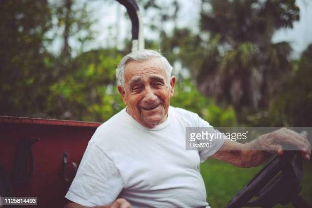 portrait of a happy active senior man - 90 plus years stock pictures, royalty-free photos & images