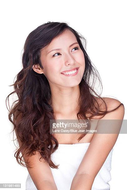 portrait of a happy beautiful young woman - beautiful chinese girls stock photos and pictures