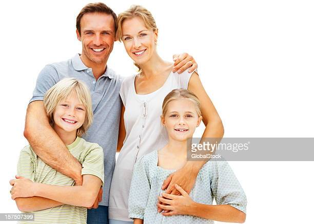 portrait of a happy family - mid volwassen koppel stockfoto's en -beelden