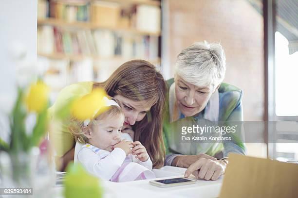 幸せな家族のポートレート