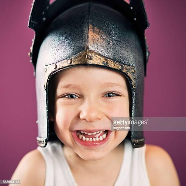 の肖像、ハッピーな少年 wearning ナイトヘルメット