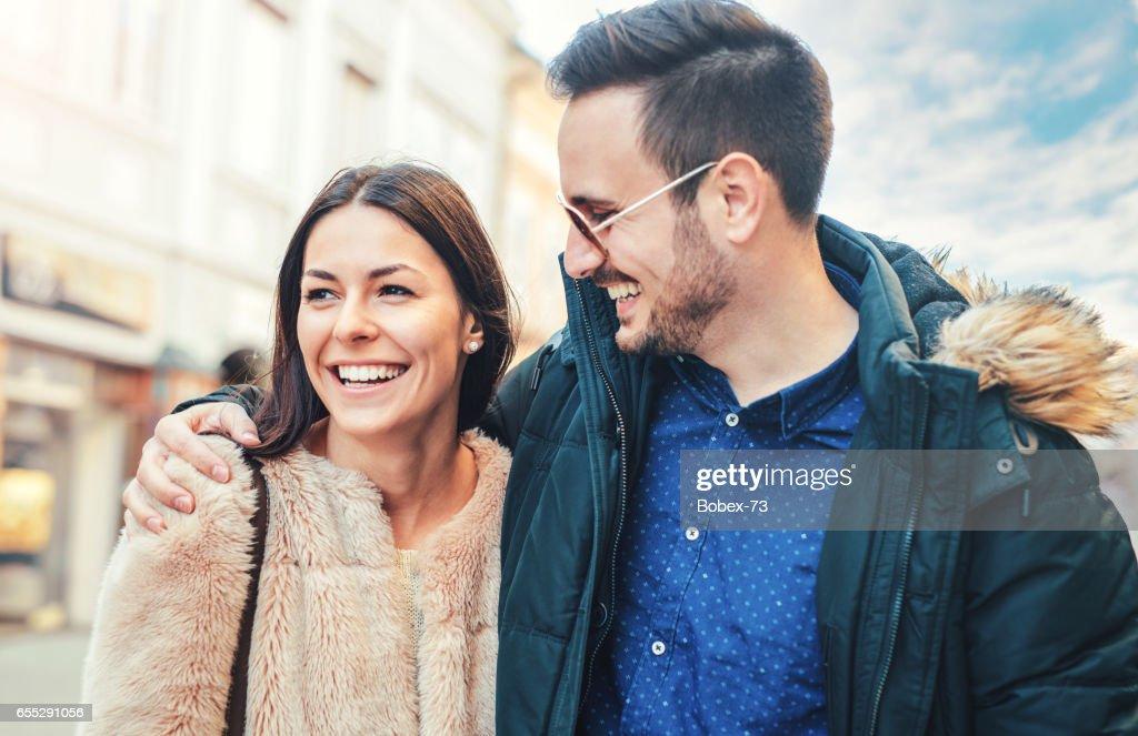 Glückliches Dating