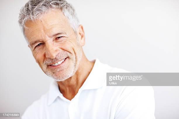Portrait of a happy mature man smiling