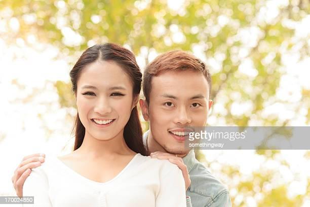 Portrait of a happy romantic couple